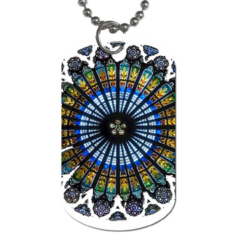 Rose Window Strasbourg Cathedral Dog Tag (Two Sides)