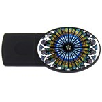 Rose Window Strasbourg Cathedral USB Flash Drive Oval (2 GB)  Front
