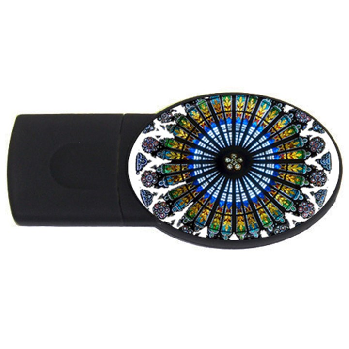 Rose Window Strasbourg Cathedral USB Flash Drive Oval (1 GB)