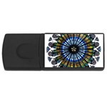 Rose Window Strasbourg Cathedral USB Flash Drive Rectangular (1 GB)  Front