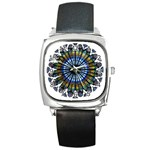 Rose Window Strasbourg Cathedral Square Metal Watch Front