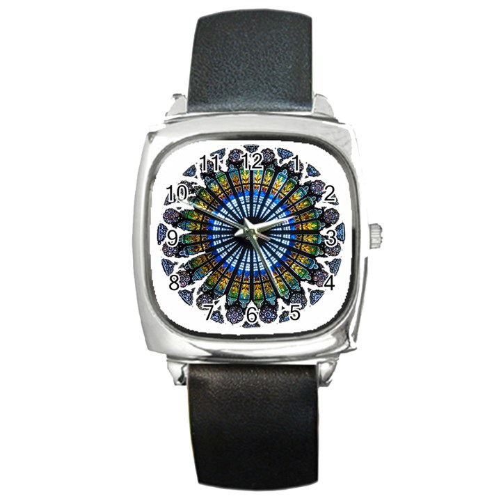 Rose Window Strasbourg Cathedral Square Metal Watch