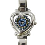 Rose Window Strasbourg Cathedral Heart Italian Charm Watch Front