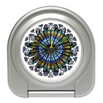 Rose Window Strasbourg Cathedral Travel Alarm Clocks Front