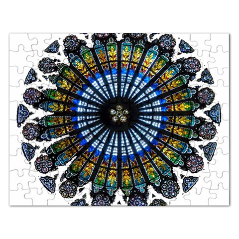 Rose Window Strasbourg Cathedral Rectangular Jigsaw Puzzl