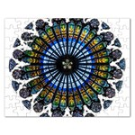 Rose Window Strasbourg Cathedral Rectangular Jigsaw Puzzl Front