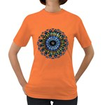 Rose Window Strasbourg Cathedral Women s Dark T-Shirt Front