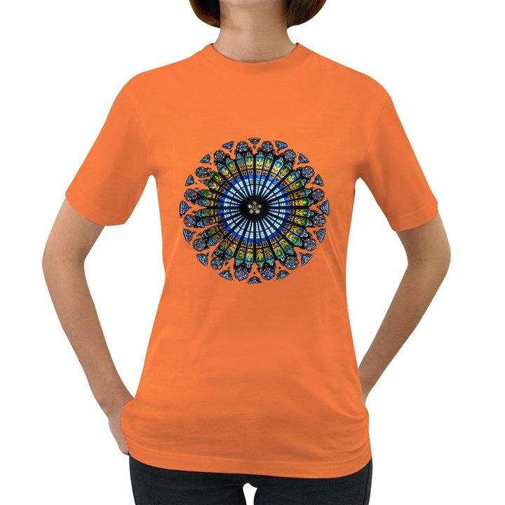 Rose Window Strasbourg Cathedral Women s Dark T-Shirt