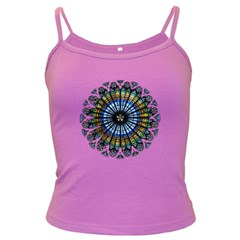 Rose Window Strasbourg Cathedral Dark Spaghetti Tank