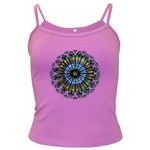 Rose Window Strasbourg Cathedral Dark Spaghetti Tank Front