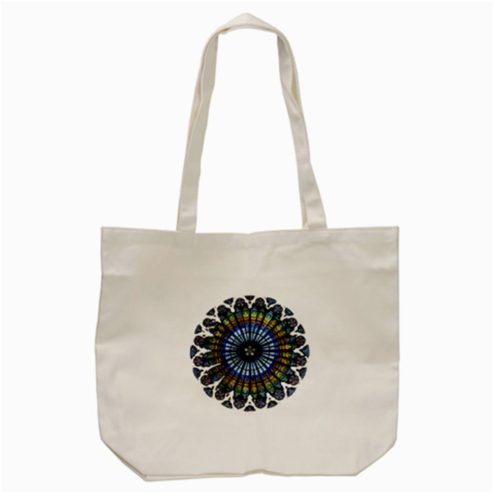 Rose Window Strasbourg Cathedral Tote Bag (Cream)