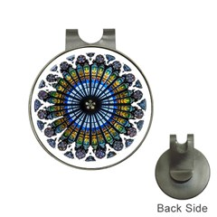 Rose Window Strasbourg Cathedral Hat Clips with Golf Markers