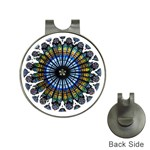 Rose Window Strasbourg Cathedral Hat Clips with Golf Markers Front