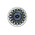 Rose Window Strasbourg Cathedral Hat Clip Ball Marker (4 pack) Front