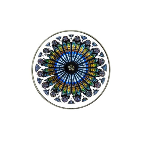 Rose Window Strasbourg Cathedral Hat Clip Ball Marker (10 pack)