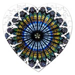 Rose Window Strasbourg Cathedral Jigsaw Puzzle (Heart) Front