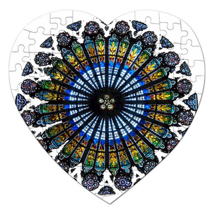 Rose Window Strasbourg Cathedral Jigsaw Puzzle (Heart)
