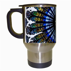 Rose Window Strasbourg Cathedral Travel Mugs (White)