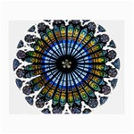 Rose Window Strasbourg Cathedral Small Glasses Cloth Front