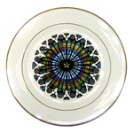 Rose Window Strasbourg Cathedral Porcelain Plates Front