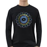 Rose Window Strasbourg Cathedral Long Sleeve Dark T-Shirts Front