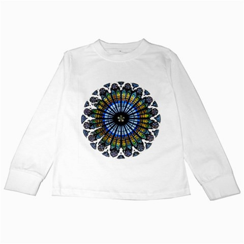 Rose Window Strasbourg Cathedral Kids Long Sleeve T-Shirts