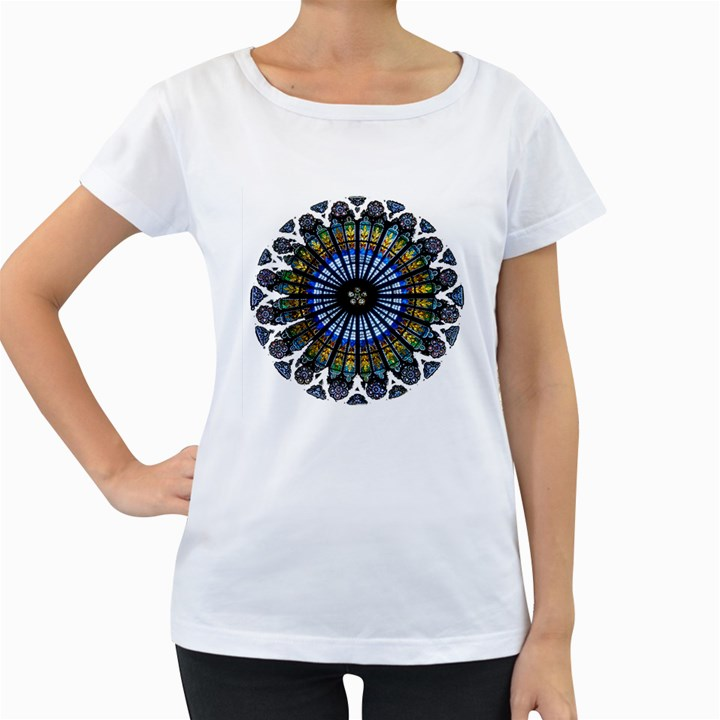 Rose Window Strasbourg Cathedral Women s Loose-Fit T-Shirt (White)