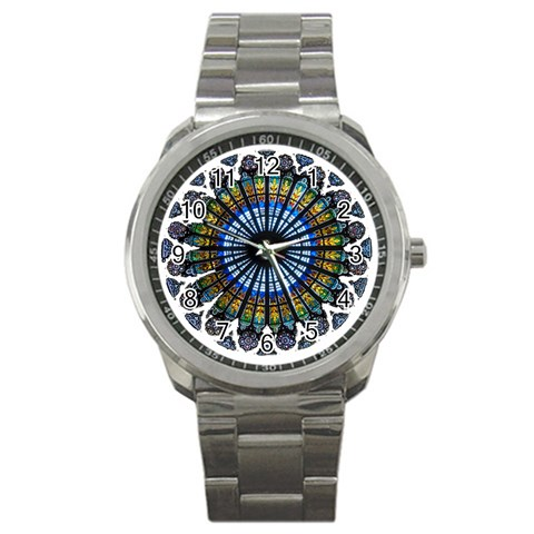Rose Window Strasbourg Cathedral Sport Metal Watch