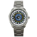 Rose Window Strasbourg Cathedral Sport Metal Watch Front