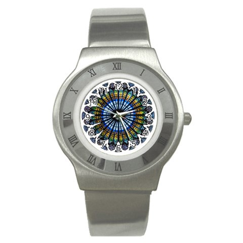 Rose Window Strasbourg Cathedral Stainless Steel Watch