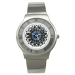 Rose Window Strasbourg Cathedral Stainless Steel Watch Front