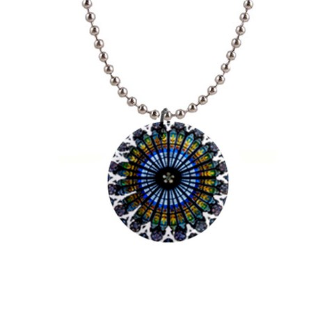 Rose Window Strasbourg Cathedral Button Necklaces