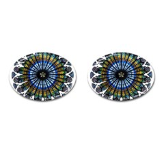 Rose Window Strasbourg Cathedral Cufflinks (Oval)