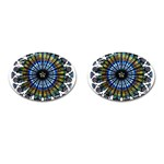 Rose Window Strasbourg Cathedral Cufflinks (Oval) Front