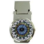 Rose Window Strasbourg Cathedral Money Clip Watches Front