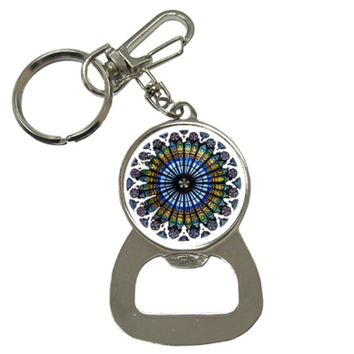 Rose Window Strasbourg Cathedral Bottle Opener Key Chains