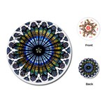Rose Window Strasbourg Cathedral Playing Cards (Round)  Front