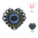 Rose Window Strasbourg Cathedral Playing Cards (Heart)  Front