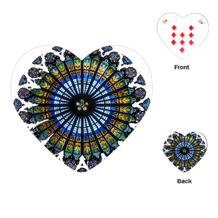 Rose Window Strasbourg Cathedral Playing Cards (Heart)