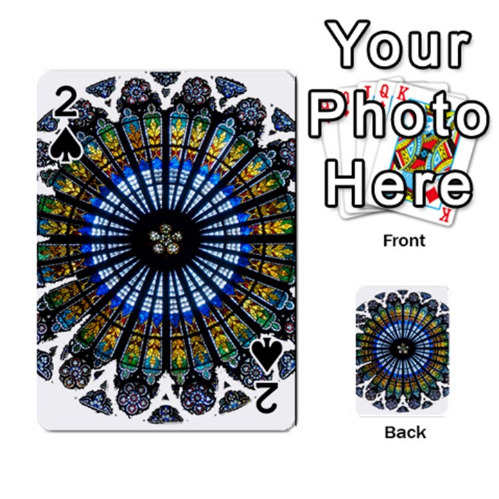 Rose Window Strasbourg Cathedral Playing Cards 54 Designs