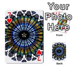 Rose Window Strasbourg Cathedral Playing Cards 54 Designs  Front - Heart7
