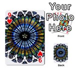 Rose Window Strasbourg Cathedral Playing Cards 54 Designs  Front - Heart9