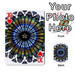 Rose Window Strasbourg Cathedral Playing Cards 54 Designs  Front - Heart10
