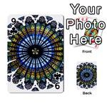 Rose Window Strasbourg Cathedral Playing Cards 54 Designs  Front - Club9