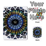 Rose Window Strasbourg Cathedral Playing Cards 54 Designs  Front - Club10