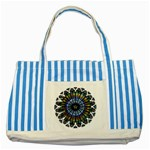 Rose Window Strasbourg Cathedral Striped Blue Tote Bag Front