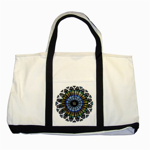 Rose Window Strasbourg Cathedral Two Tone Tote Bag