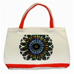 Rose Window Strasbourg Cathedral Classic Tote Bag (Red) Front