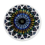 Rose Window Strasbourg Cathedral Round Ornament (Two Sides)  Back