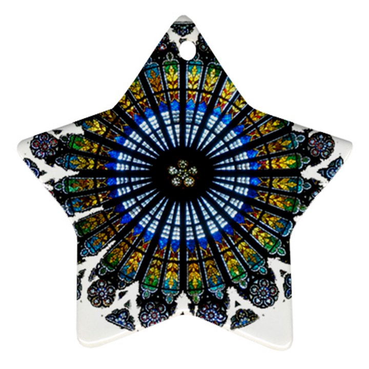 Rose Window Strasbourg Cathedral Star Ornament (Two Sides)